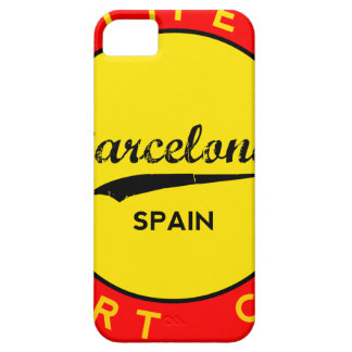 Barcelona, Spain, red circle, art iPhone 5 Case