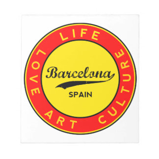 Barcelona, Spain, red circle, art Notepad