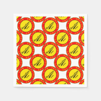 Barcelona, Spain, red circle, art Paper Serviettes