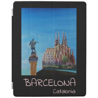 Barcelona Spain Retro Poster iPad Cover