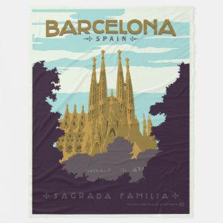 Barcelona, Spain - Sagrada Familia Fleece Blanket