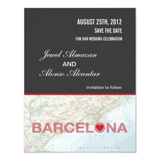 Barcelona Spain Save the Date Announcement