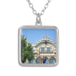 Barcelona, Spain Silver Plated Necklace