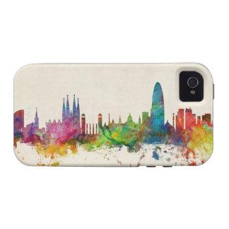 Barcelona Spain Skyline Vibe iPhone 4 Covers