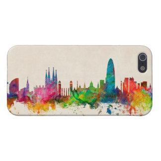 Barcelona Spain Skyline Cover For iPhone 5/5S