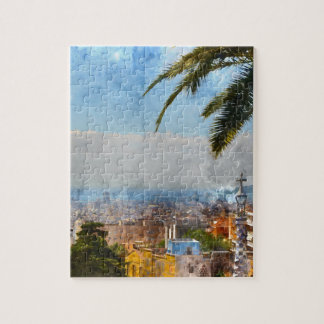 Barcelona Spain Skyline Jigsaw Puzzle