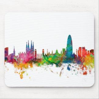 Barcelona Spain Skyline Mouse Pad