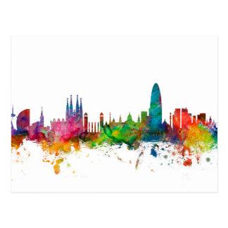 Barcelona Spain Skyline Postcard