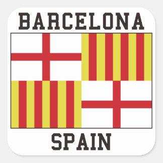 Barcelona Spain Square Sticker