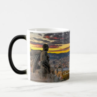 Barcelona Spain, Sunset - Morphing Mug