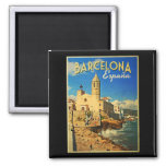 Barcelona Spain Vintage Travel Refrigerator Magnets