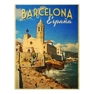 Barcelona Spain Vintage Travel Postcard