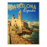 Barcelona Spain Vintage Travel Postcards