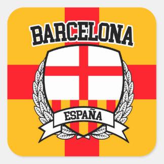 Barcelona Square Sticker