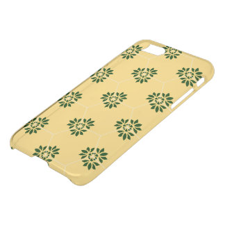 Barcelona tile flower pattern in yellow and green iPhone 8/7 case