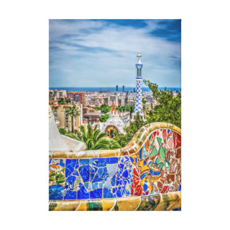 Barcelona Unique Photographic Modern Art Canvas Print