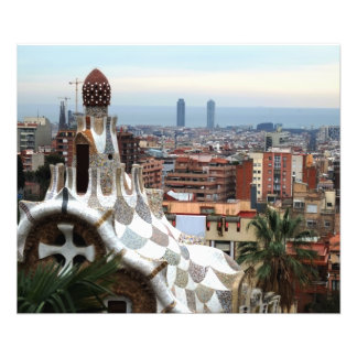Barcelona View from Gaudi's Parc Guell Photo Art