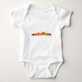 Barcelona watercolor Skyline v02 Baby Bodysuit