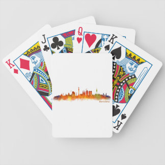 Barcelona watercolor Skyline v02 Bicycle Playing Cards