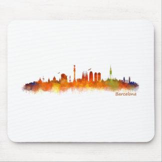 Barcelona watercolor Skyline v02 Mouse Pad
