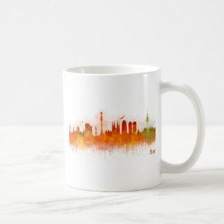 Barcelona watercolor Skyline v03 Coffee Mug