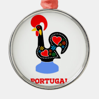 Barcelos Rooster Metal Ornament