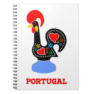 Barcelos Rooster Spiral Notebook