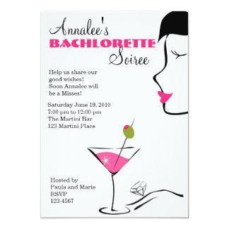 """Barchlorette Martini Soiree 5"""" X 7"""" Invitation Card"""