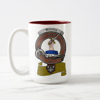Barclay Clan Badge Two Tone 15oz Mug