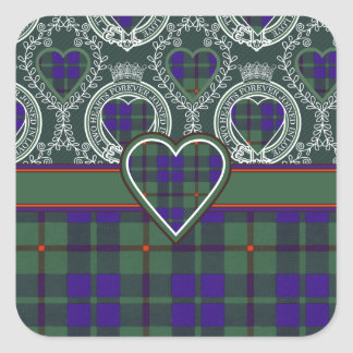 Barclay Scottish Tartan Square Sticker
