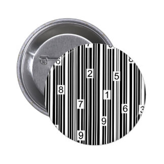 Barcode 6 Cm Round Badge