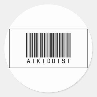 Barcode Aikidoist Classic Round Sticker