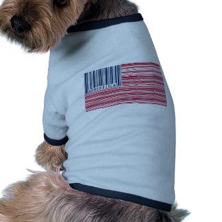 barcode american flag pet tee