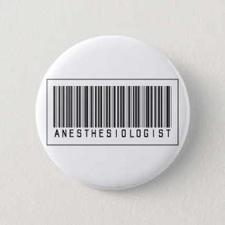 Barcode Anesthesiologist 6 Cm Round Badge