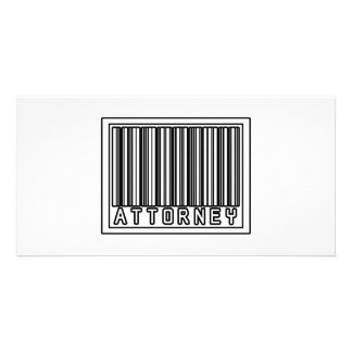 Barcode Attorney Photo Greeting Card