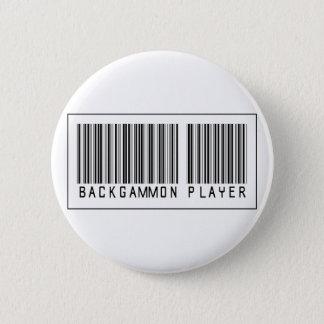Barcode Backgammon Player 6 Cm Round Badge