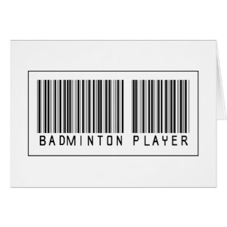 Barcode Badminton Player Card