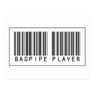 Barcode Bagpipe Player Postcard