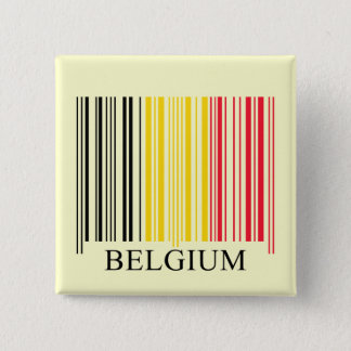 Barcode Belgium Flag 15 Cm Square Badge
