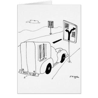 Barcode Cartoon 6676 Card