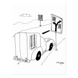 Barcode Cartoon 6676 Postcard