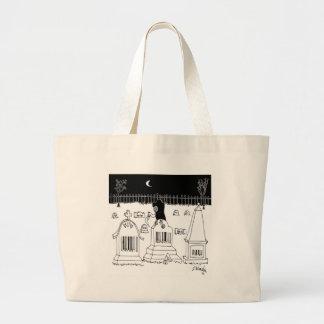 Barcode Cartoon 7019 Large Tote Bag