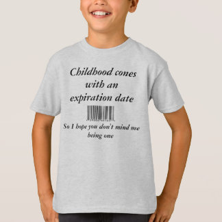 barcode, Childhood cones with an expiration dat... T-Shirt