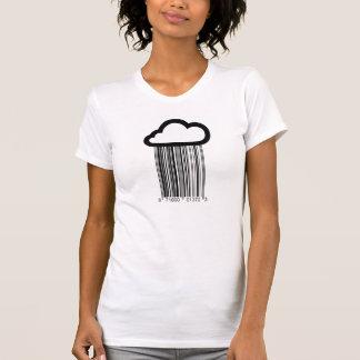 Barcode Cloud Illustration Tee Shirt