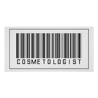Barcode Cosmetologist Poster