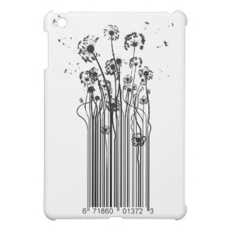 Barcode Dandelion Silhouette iPad Mini Cover