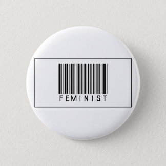 Barcode Feminist 6 Cm Round Badge