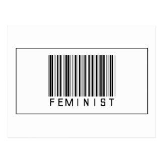 Barcode Feminist Postcard