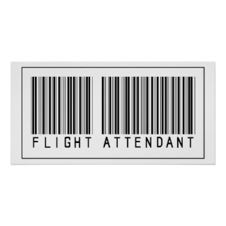 Barcode Flight Attendant Posters