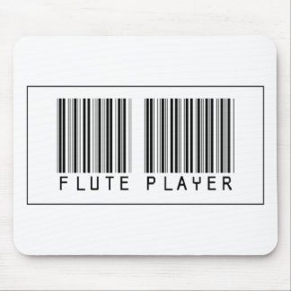 Barcode Flute Player Mouse Pad